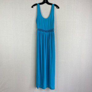 TOPSHOP Blue Maxi Dress
